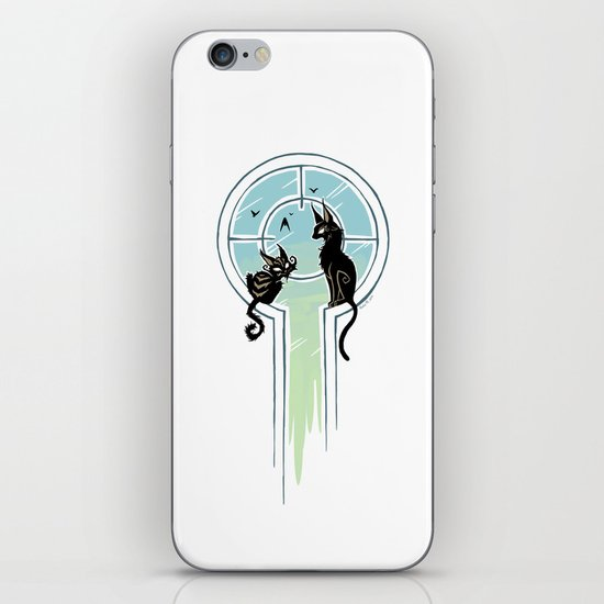 Window Cats iPhone & iPod Skin