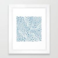 Octopus Dots: Carolina Blue  Framed Art Print