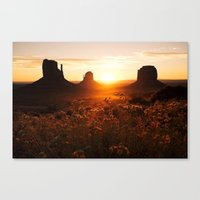 Sunrise In Monument Vall… Canvas Print