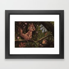 Unexpected Acorn Framed Art Print