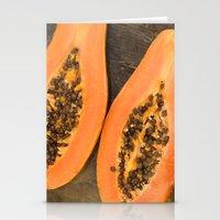 Papaya Fruit Stationery Cards