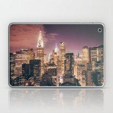 New York City - Chrysler Building Lights Laptop & iPad Skin