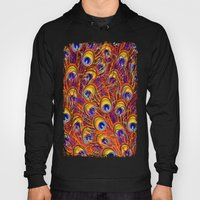 Peacock Feathers Colorful Pattern  Hoody