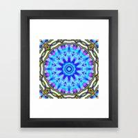 Liquid Blue Kaleido Patt… Framed Art Print