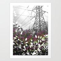 Pylon Art Print
