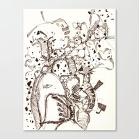 Paper and Pen Canvas Print