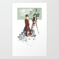 Recording Art Print