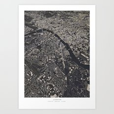 London city map Art Print