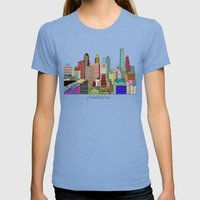 Philadelphia City Sklyin… Womens Fitted Tee Tri-Blue SMALL