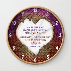 The Strength of My Heart Wall Clock