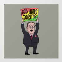 God Hates Doritos Canvas Print