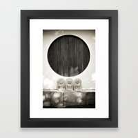 Jizo in Black and White, Kyoto Framed Art Print