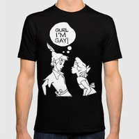 GURL... I'M GAY! (Peter Pan) Mens Fitted Tee Black SMALL
