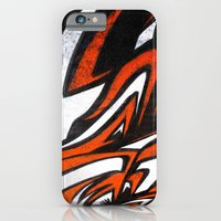 iPhone & iPod Case featuring White n' Red by squadcore