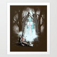 The Fallen Templar Art Print