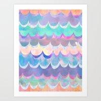 Mia Wave {Aqua} Art Print