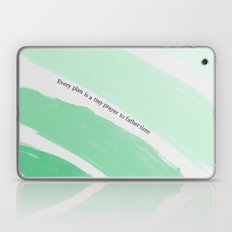 Every Plan is a Tiny Prayer to Father Time - Death Cab for Cutie Watercolor Rainbow Laptop & iPad Skin