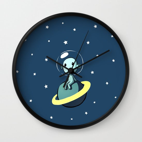 Space Alien Wall Clock
