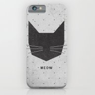 iPhone & iPod Case featuring MEOW by Wesley Bird