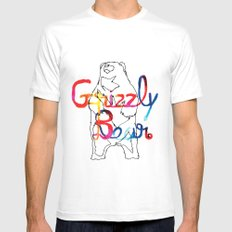Grizzly Bear Mens Fitted Tee SMALL White