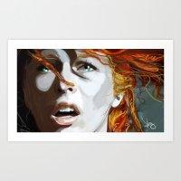 Leeloominaï Art Print