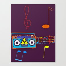 Radio Active musical waves Canvas Print