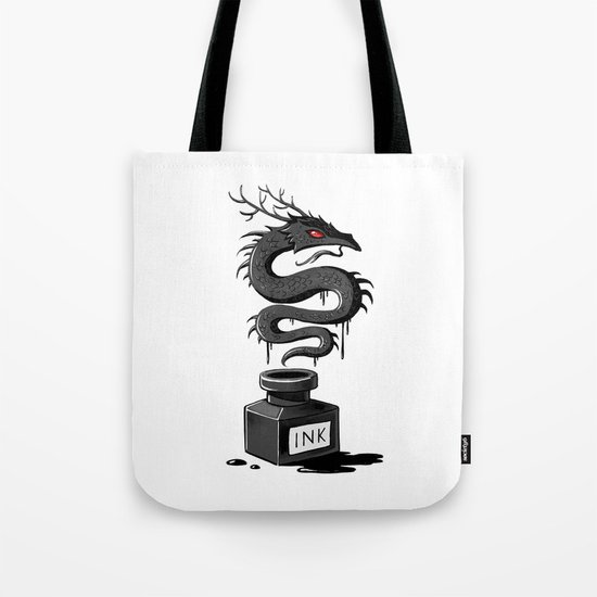 Ink Dragon Tote Bag