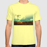 Power Baby, Power By D. … Mens Fitted Tee Lemon SMALL
