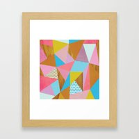 Wooden Colorful Framed Art Print