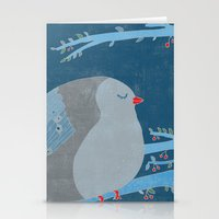 Bird of happiness Stationery Cards