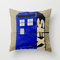 Minimalist Doctor Who  -… Throw Pillow