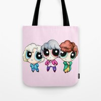 Golden Puff Girls Tote Bag