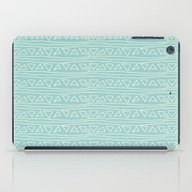 Blue Scribbles 05 iPad Case