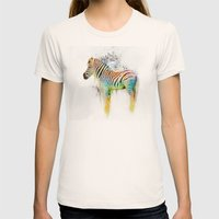 Drippy Jazzy Zebra by Jai Johnson Womens Fitted Tee Natural SMALL