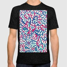 - summer sea jungle - Mens Fitted Tee Tri-Black SMALL