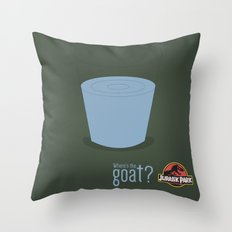 Jurassic Park  ¿Where's the goat? Throw Pillow