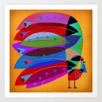 ROOSTER PLUMAGE Art Print