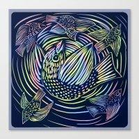 Bird swirl Canvas Print