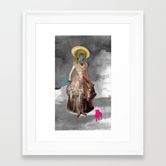 Goya -  Marquesa de Pontejos - Collage Framed Art Print