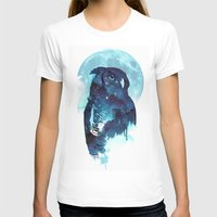 owl T-shirts featuring Midnight Owl by Robert Farkas
