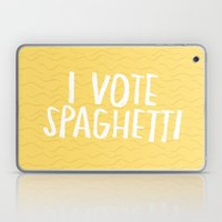 I Vote Spaghetti Laptop & iPad Skin