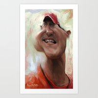 Michael Schumacher Art Print