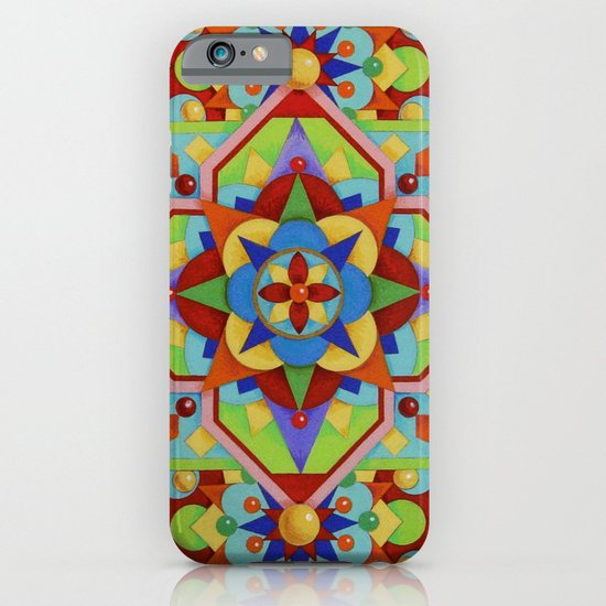 Chartres Mandala - yellow ground iPhone & iPod Case