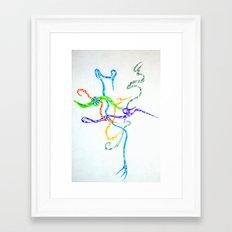 Randomness Framed Art Print