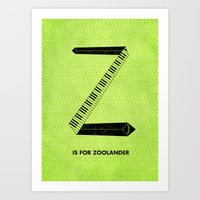 Z Is For Zoolander Art Print