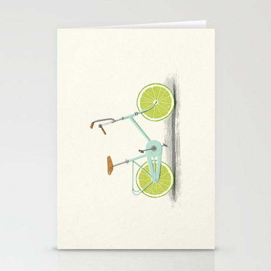 Acid (Blue) Stationery Card