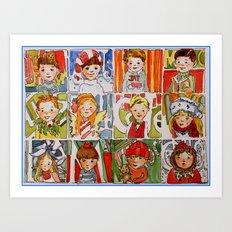 The Twelve Kids of Christmas Art Print