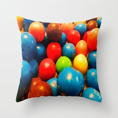 Colorful Candy! Throw Pillow