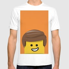 Brick Builder SMALL Mens Fitted Tee White