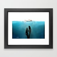 Crescent Jaws Framed Art Print